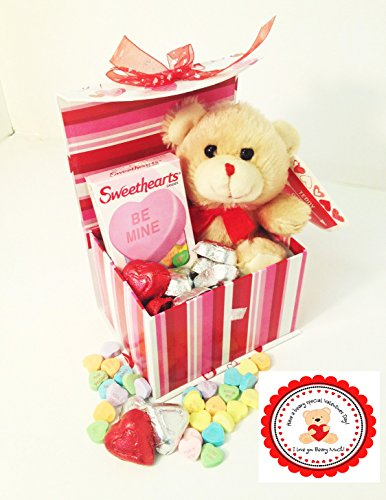 'I Love You BEARY Much!' Valentine Gift Basket with Teddy Bear Plush (Teddy Bear Basket compare prices)
