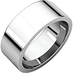 08.00 mm Flat Comfort-Fit Wedding Band Ring in Platinum ( Size 8.5 )