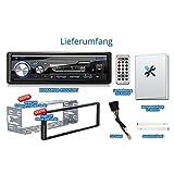 XOMAX-XM-RSU253BT-Autoradio-mit-Bluetooth-Freisprechfunktion-USB-Anschluss-bis-128-GB-SD-Kartenslot-bis-128-GB-fr-MP3-und-WMA-AUX-IN-Verkrzte-Einbautiefe-Single-DIN-1-DIN-Standard-Einbaugre-abnehmbare