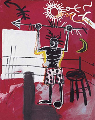 Basquiat Jean Michel the ring size 65x50cmt.prees 51x40cmt Ed.200 Moder Lithografic watermark BFK