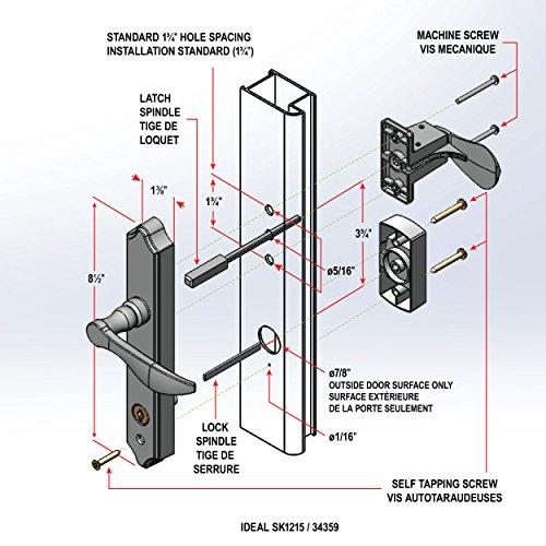 Ideal Security Inc Sk1215bb Deluxe Storm Door Handle Set