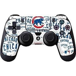 MLB Chicago Cubs PS4 DualShock4 Controller Skin - Chicago Cubs - White Cap Logo Blast Vinyl Decal Skin For Your PS4 DualShock4 Controller