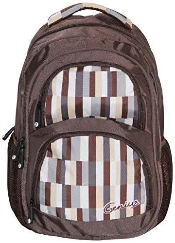 Genius Genius Back Pack Brown (GN Back Pack 1404_BRN) (Black)