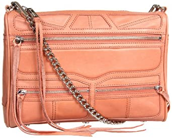 Rebecca Minkoff Tri Zip Mac With Silver Hardware 10METZCRE2 Clutch,Coral,One Size