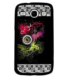 PrintVisa Metal Printed Music Designer Back Case Cover for Samsung Galaxy Core I8260/ I8262-D4839