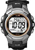 Timex Men's T5K455 1440 Sport Silver and Black Case with Black Fastwrap Digital Watch by Timex