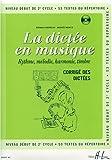 echange, troc Pierre Chepelov, Benoit Menut - La dictée en musique Volume 4 - corrigé