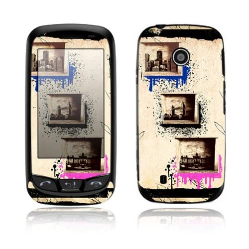World Traveler Design Decorative Skin Cover Decal Sticker for LG Cosmos Touch VN270 Cell Phone
