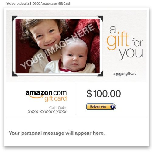 MoreAmazon Gift Card Upload Your Photo - Gift for YouReview
