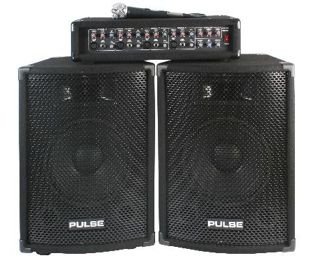 Complete 150W PA System - 4CH Mixer and Two 10inch Speakers With Headphones (Complete Pa System Package Mixer compare prices)