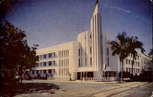 Plymouth Hotel Private Pool, 21St Street Miami Beach Florida Original Vintage Postcard