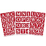 Armour Products Etch Over N Over Stencil with 1.5-Inch Letters, 3 Sheets (Tamaño: overall sheet : 5