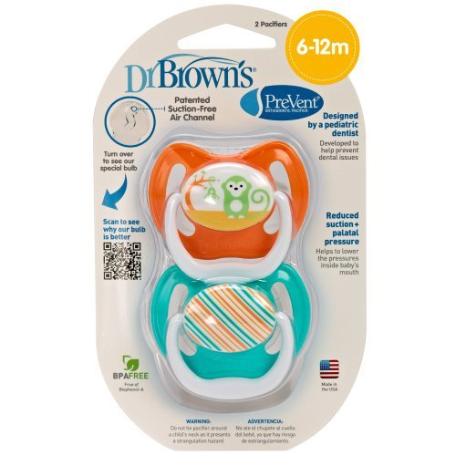 Dr. Brown'S Prevent Design Pacifier, Neutral, Stage 2, 6-12 Months Newborn, Kid, Child, Childern, Infant, Baby