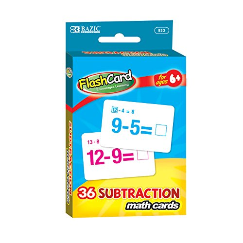 BAZIC Subtraction Flash Cards (36/Pack) - 1