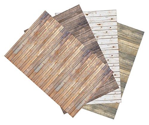 Ella Bella Photography Backdrop Paper, 4-feet by 12-feet, 4 Assorted Wood Designs