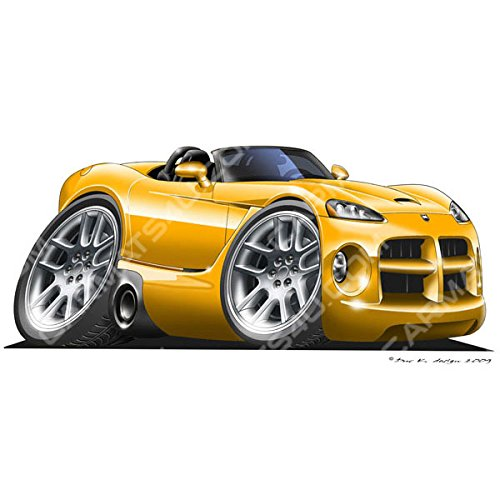 dodge-viper-srt10-vinyl-wall-art-sticker-yellow