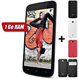 Yezz Andy A6M Smartphone Bluetooth Android 4.2 Jelly Bean 1 Go Noir + 2 Coques