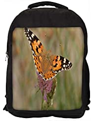 """Snoogg Tiger Butterfly Casual Laptop Backpak Fits All 15 - 15.6"""" Inch Laptops"""
