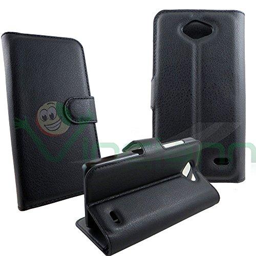 Custodia FLIP cover NERA per ZTE Blade Apex 2 case stand+tascha libretto BOOKLET