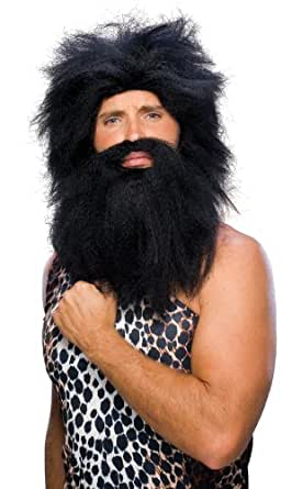 Rubie's Costume Characters Caveman Beard And Set Wig, Black, One Size
