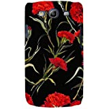For Samsung Galaxy S3 I9300 :: Samsung I9305 Galaxy S III :: Samsung Galaxy S III LTE Floral Pattern ( Flower Pattern, Red Flower, Flower, Black Background ) Printed Designer Back Case Cover By FashionCops