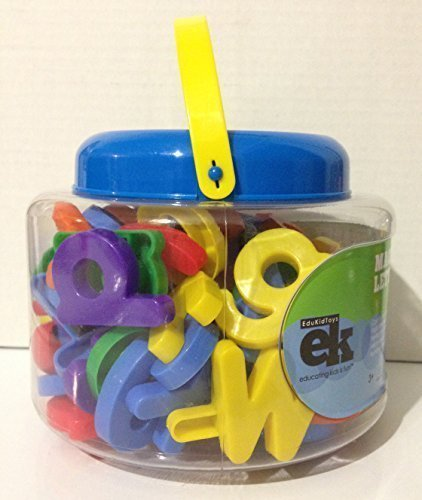 EduKid Toys 109 MAGNETIC LETTERS & NUMBERS in a Bucket