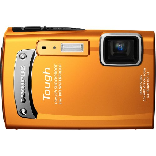 Olympus TG-310 14 MP Digital Camera with 3.6x Optical Zoom, Waterproof, Shockproof, Freezer Proof (Orange)