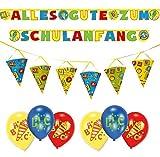 Toy - Dekoset zum Schulanfang 2 x Girlanden + 6 x Luftballons