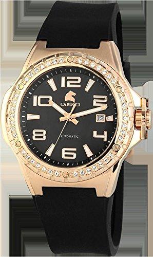 Carucci Watches CA2213RG-BK - Reloj para mujeres, correa de goma color negro