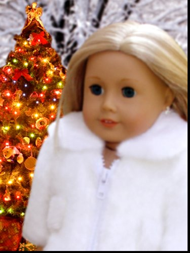 Doll Clothes Fits American Girl Winter Coat for HOLIDAY