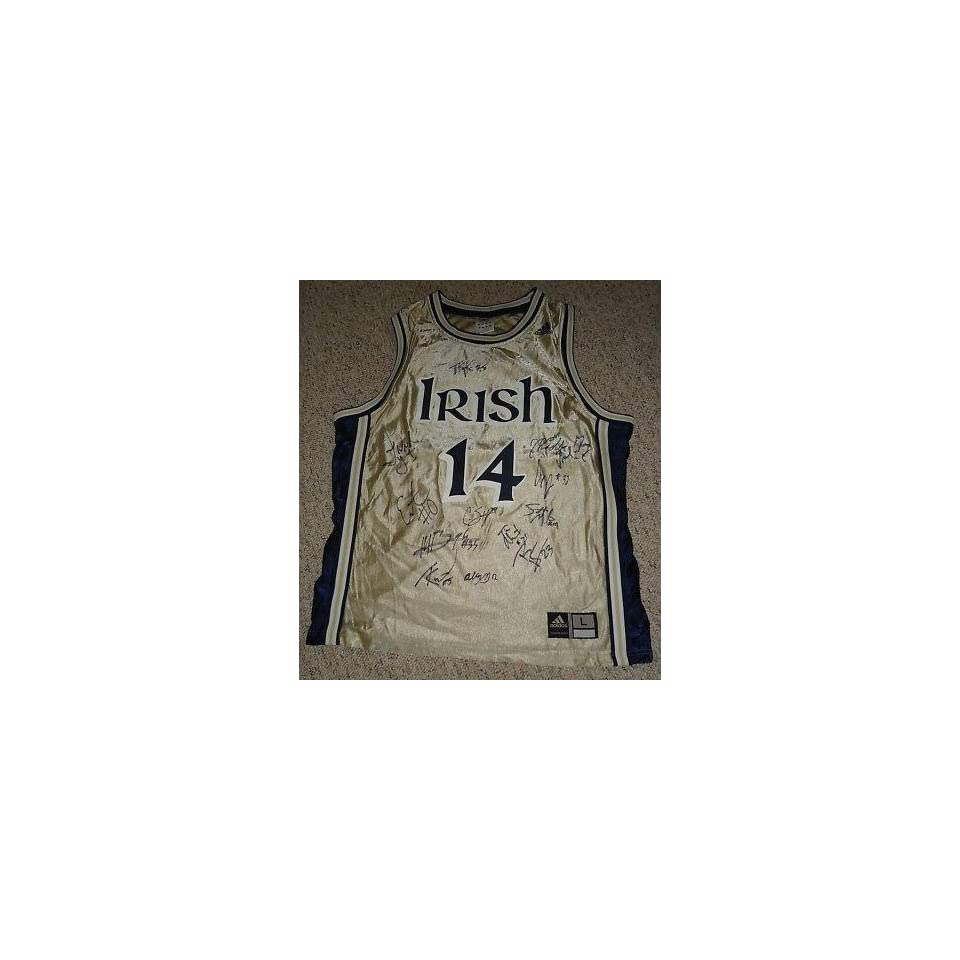 2011 NOTRE DAME FIGHTING IRISH team signed jersey W/COA   Autographed College Jerseys
