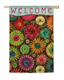 Daisy Pattern Welcome Flag (Garden Size)