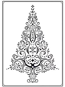 #!Cheap Swirl Christmas Tree Embossing Folder