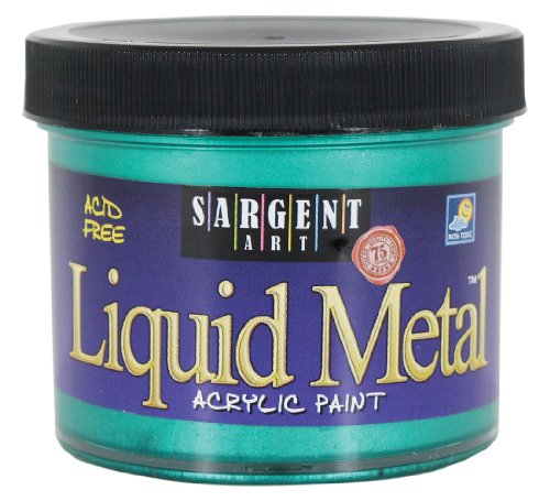 Sargent Art 22-1266 4-Ounce Liquid Metal Acrylic Paint, Green (Green Metallic Paint compare prices)