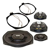 "Earthquake Sound SWS-8XI Shallow Woofer System Series Single 2 Ohm 600 Watt 8"" Car Subwoofer + Speaker Adapter (pair)"