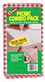 Coghlans 0660 Picnic Combo Pack Tablecloth with 6 Clamps