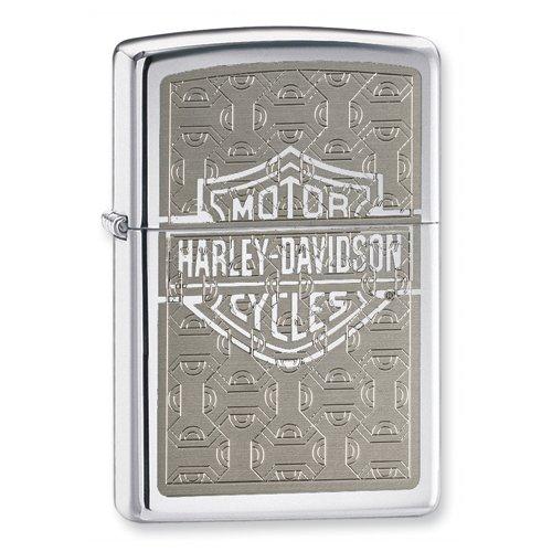 Zippo Harley Davidson High Polish Chrome Lighter Jewelry
