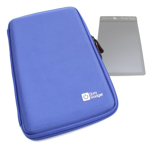New Duragadget Tough Resilient Eva Hard Shell Cover Case Sleeve With Internal Ergonomic Designed Accessories Pouch In Blue For Boogie Board Personal Organiser, Boogie Board Paperless Lcd Writing Tablet - Yellow, Blue, Pink, Black & Boogie Board Digital Wr