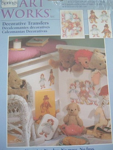"Art Works Decorative Transfers ""DANCING DOLLS"" - Indoors or Outdoors - Nursery - 1"