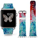 3C-LIFE Iwatch Cute Lovely Band For Apple Watch Sport 38mm Space Aluminum Case With White Sport Band St.patrick... - B01BTR979M