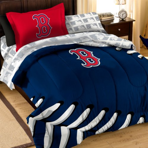 Mlb Boston Red Sox Bedding Set, Full front-862481
