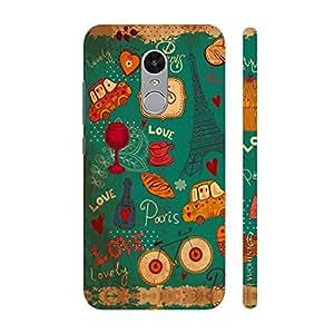Enthopia Designer Hardshell Case Paris Love Back Cover for Xiaomi Redmi Note 4