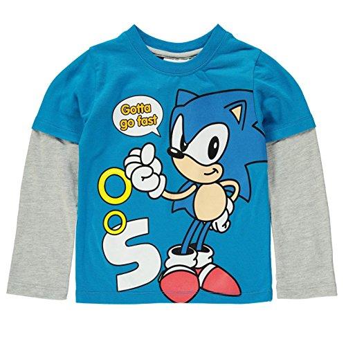 character-ninos-camiseta-manga-larga-cuello-redondo-te-top-grande-frontal-print-sonic-9-10-anos