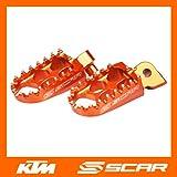 FOOTPEGS STD KTM 85SX 85 SX ORANGE COLOR FOOT PEGS REST FOOTREST SCAR