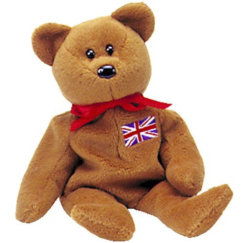 TY Beanie Baby - BRITANNIA the Bear (UK Exclusive)