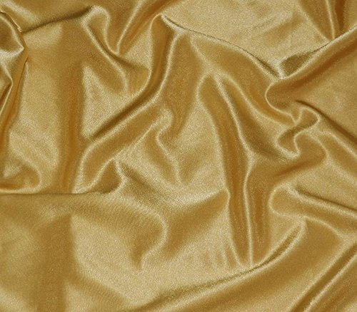 Satin Fabric Crepe Solid SUN GOLD / 60