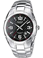 Casio - EF-125D-1A - Edifice - Montre Homme - Quartz Analogique - Cadran Noir - Bracelet Acier Gris