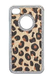 Peter Jäckel 12497 Animal Leopard Back Cover für Apple iPhone 4/4S beige