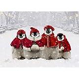 Avanti Christmas Cards, Caroling Penguins, 10 Count ~ Avanti Press