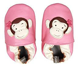 Tommy Tickle Soft Soled Shoes (Pink Monkey, Extra Large)